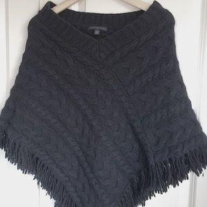Banana Republic Wool Angora Cable Knit Poncho XS/S